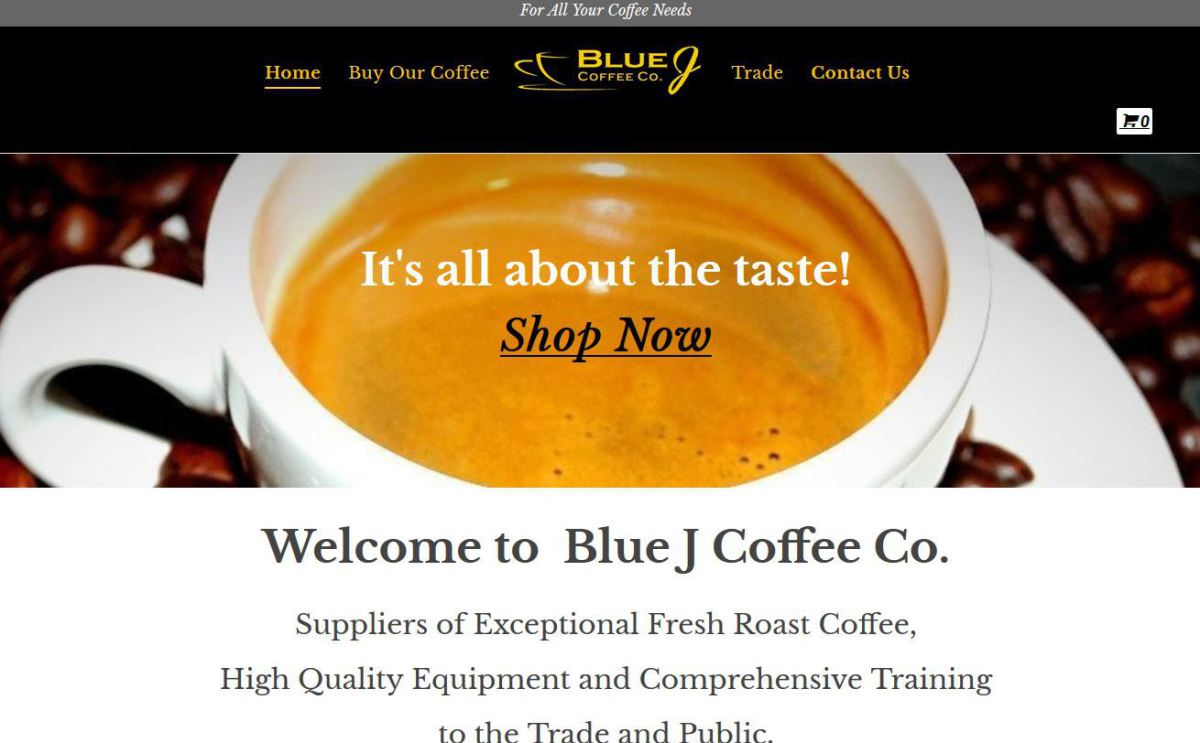 Blue J Coffee Co Blend 34